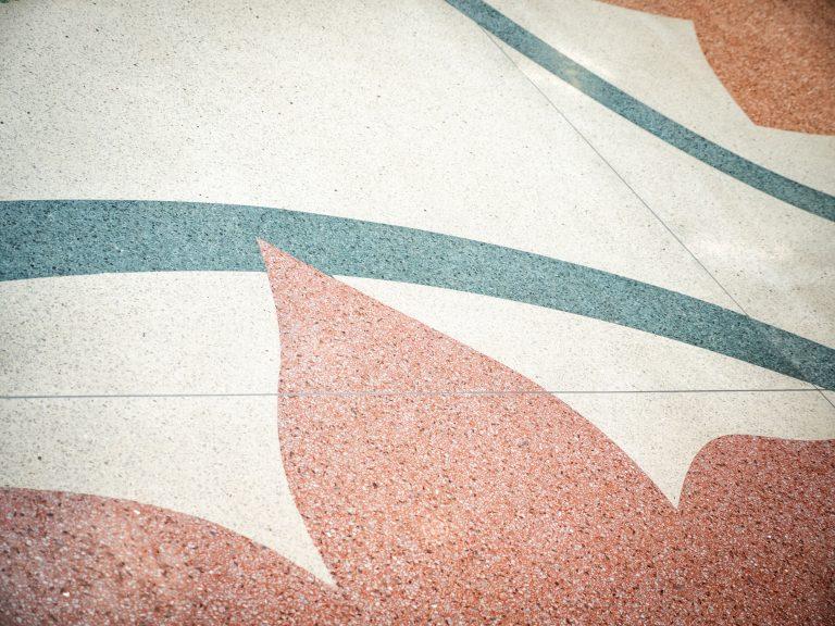 detalj terrazzo-gulv kongsvinger ungdomsskole